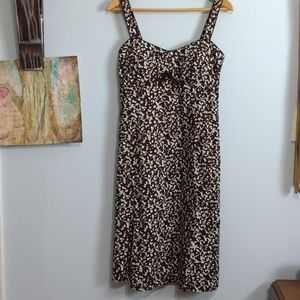 🌼🌼R&K Sundress Size 10 in Brown and Green Print